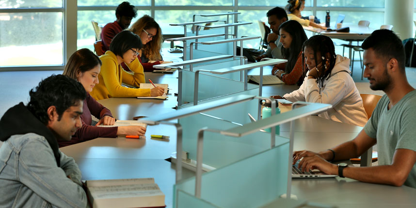 students in library img